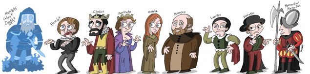 photo of characters from the classics
